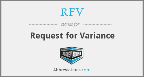 RFV - Request for Variance