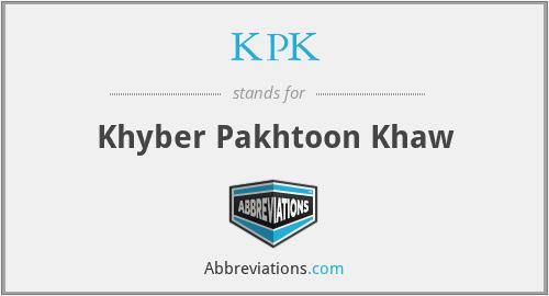 KPK - Khyber Pakhtoon Khaw