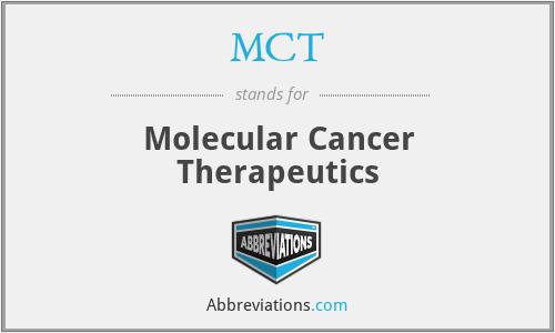 MCT - Molecular Cancer Therapeutics