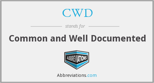 CWD - Common and Well Documented