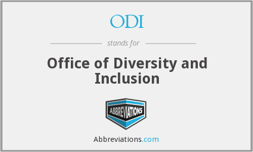 ODI - Office of Diversity and Inclusion