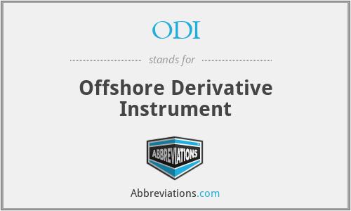 ODI - Offshore Derivative Instrument