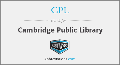 CPL - Cambridge Public Library