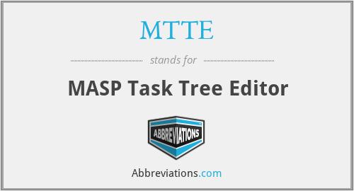 MTTE - MASP Task Tree Editor