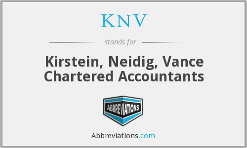 KNV - Kirstein, Neidig, Vance Chartered Accountants