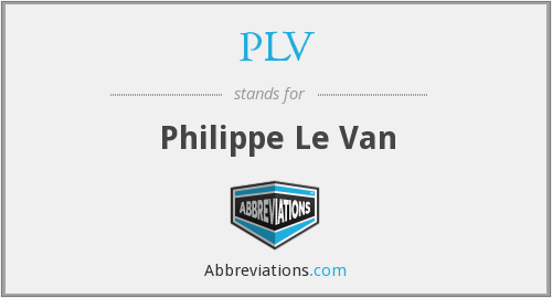 PLV - Philippe Le Van