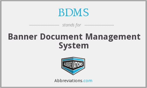 BDMS - Banner Document Management System