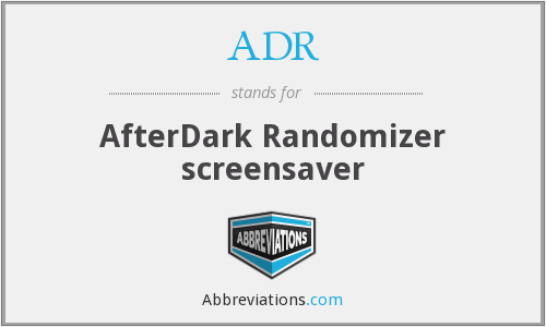 ADR - AfterDark Randomizer screensaver