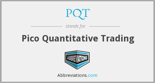 PQT - Pico Quantitative Trading