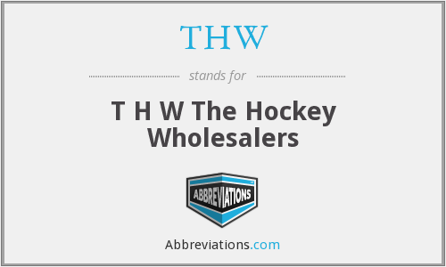 THW - T H W The Hockey Wholesalers