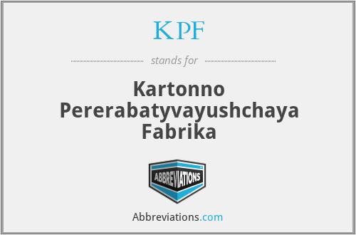 KPF - Kartonno Pererabatyvayushchaya Fabrika