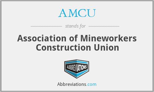 AMCU - Association of Mineworkers Construction Union
