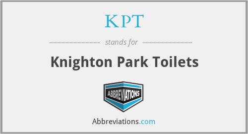 KPT - Knighton Park Toilets