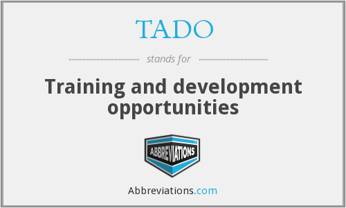What does TADO stand for?