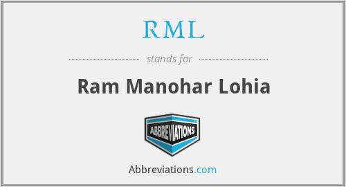 RML - Ram Manohar Lohia