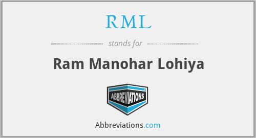 RML - Ram Manohar Lohiya