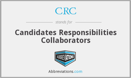CRC - Candidates Responsibilities Collaborators