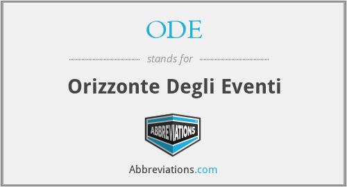 ODE - Orizzonte Degli Eventi