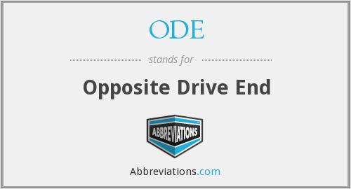 ODE - Opposite Drive End