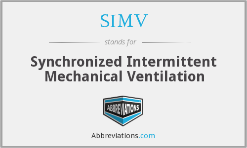 What does SIMV stand for?