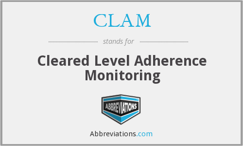 CLAM - Cleared Level Adherence Monitoring