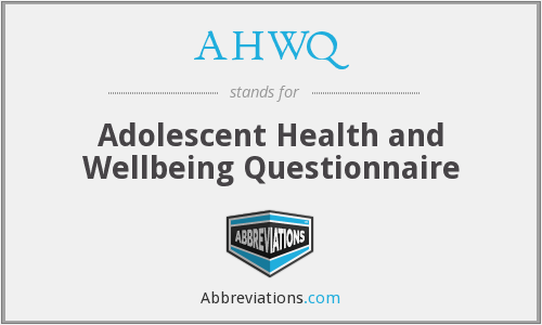 What does AHWQ stand for?