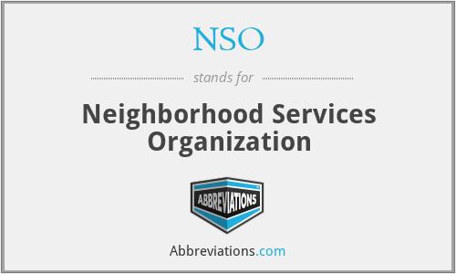 NSO - Neighborhood Services Organization
