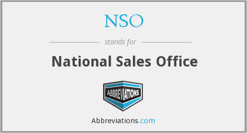 NSO - National Sales Office