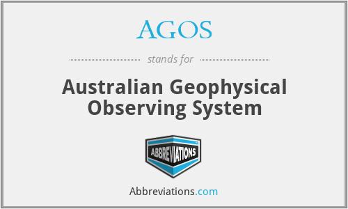 AGOS - Australian Geophysical Observing System