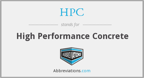 HPC - High Performance Concrete