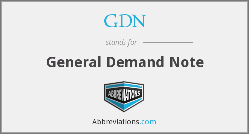GDN - General Demand Note