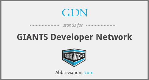 GDN - GIANTS Developer Network