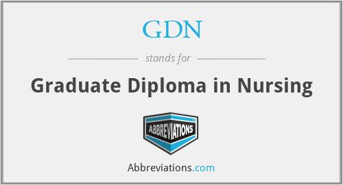 GDN - Graduate Diploma in Nursing