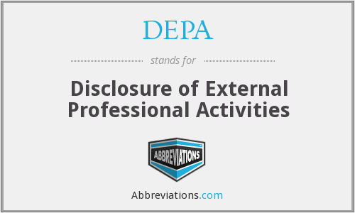 DEPA - Disclosure of External Professional Activities