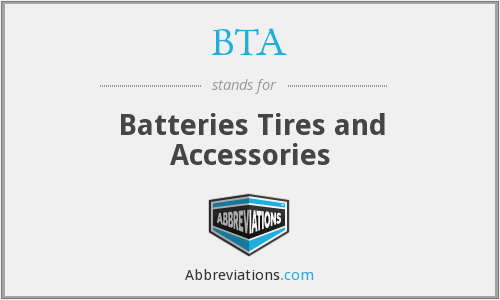 BTA - Batteries Tires and Accessories