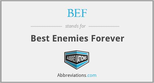 BEF - Best Enemies Forever