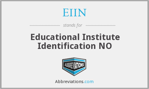 What does EIIN stand for?