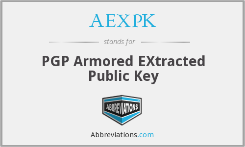 AEXPK - PGP Armored EXtracted Public Key