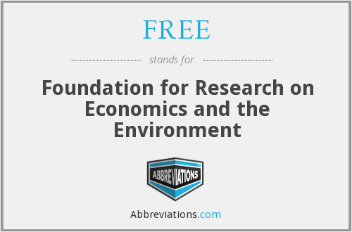 FREE - Foundation for Research on Economics and the Environment