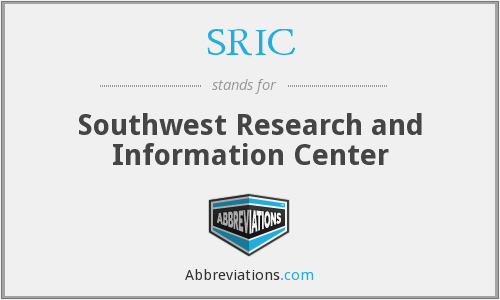 What does SRIC stand for?