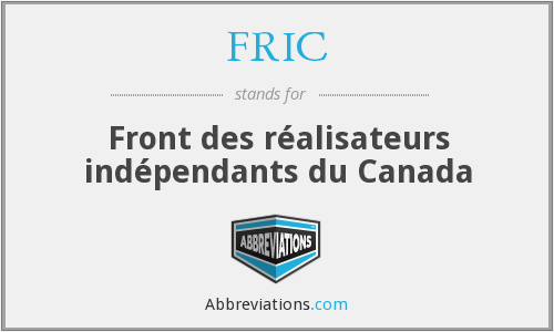 What does FRIC stand for?