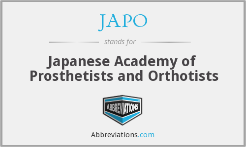 JAPO - Japanese Academy of Prosthetists and Orthotists