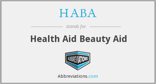 HABA - Health Aid Beauty Aid