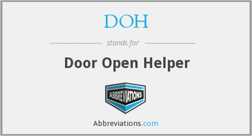 DOH - door open helper