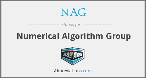 NAG - Numerical Algorithm Group