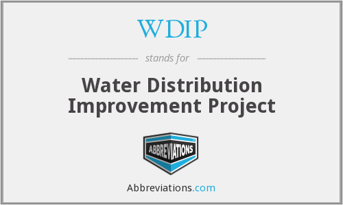WDIP - Water Distribution Improvement Project