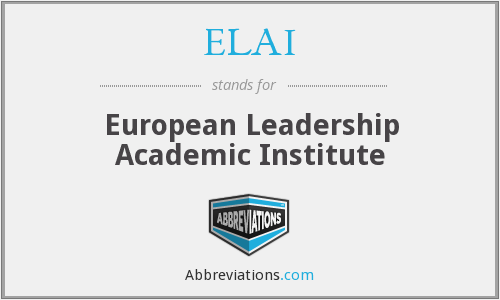 ELAI - European Leadership Academic Institute