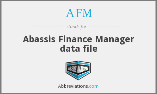 AFM - Abassis Finance Manager data file