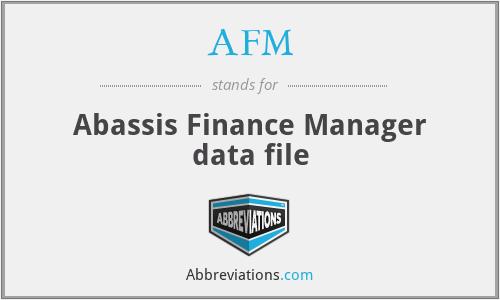 AFM - Abassis Finance Manager data file