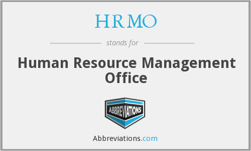 What does HRMO stand for?